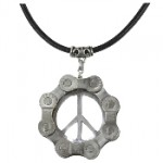 Velo Bling Peace Sign Necklace