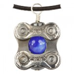 Velo Bling Square Link Pendant Necklace