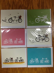Eliza Lenore Bicycle Greeting Cards