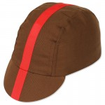 Pace Classic Cycling Cap Chocolate Brown w/ Red Ribbon